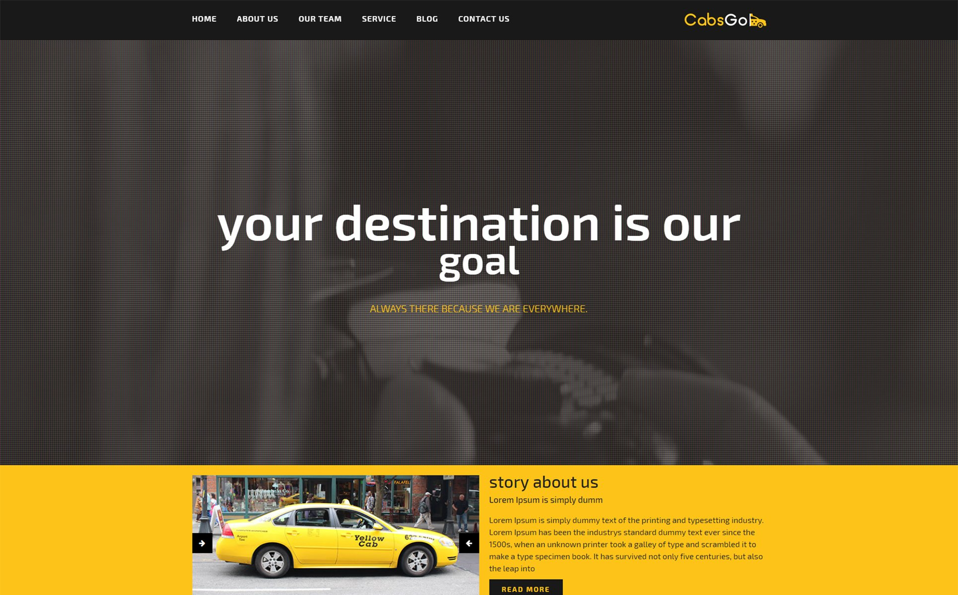 Cabsgo responsive Html Website Template #68260