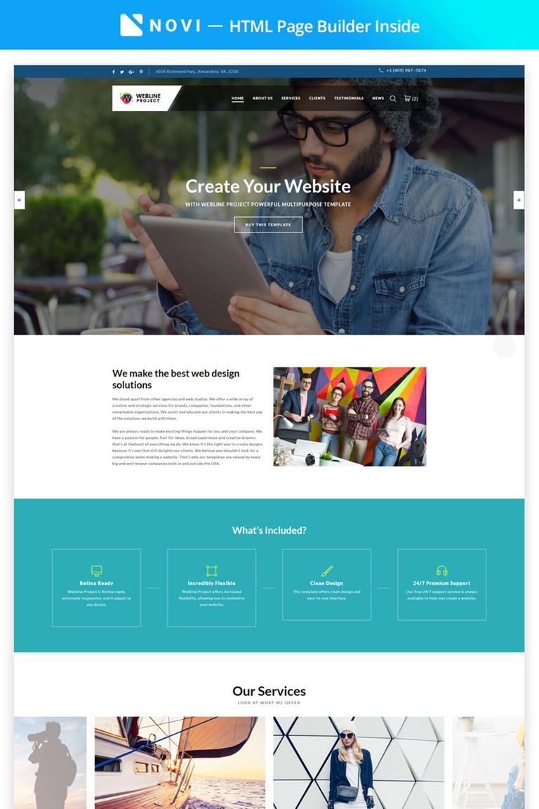Landing Page Template #67308 für Buchhaltung Website