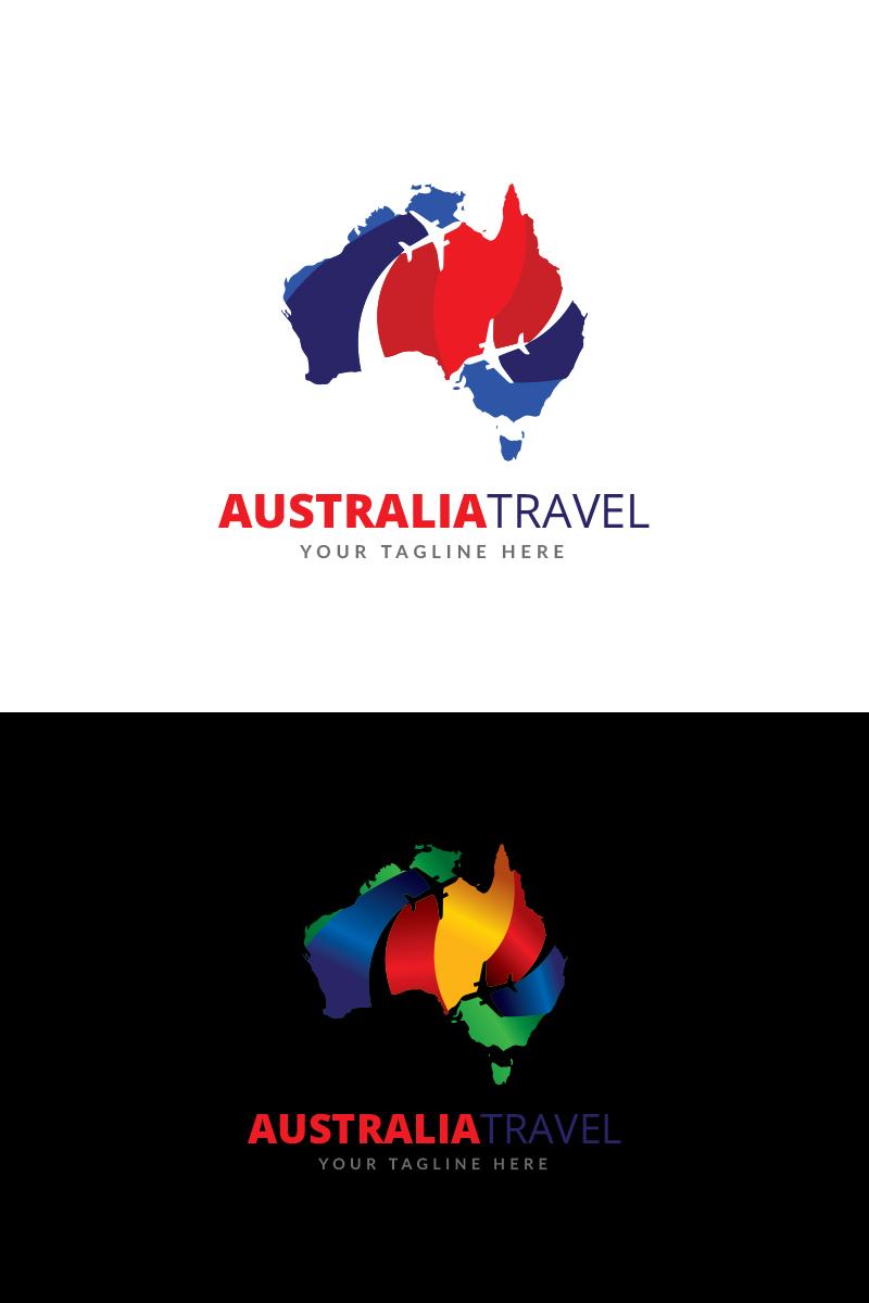 Map Of Australia Logo.Australia Traveling Logo Template 67841