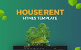 "Website Vorlage namens ""HouseRent - Multi Concept House And Apartment Rent HTML"""