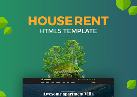 HouseRent - Multi Concept House And Apartment Rent HTML