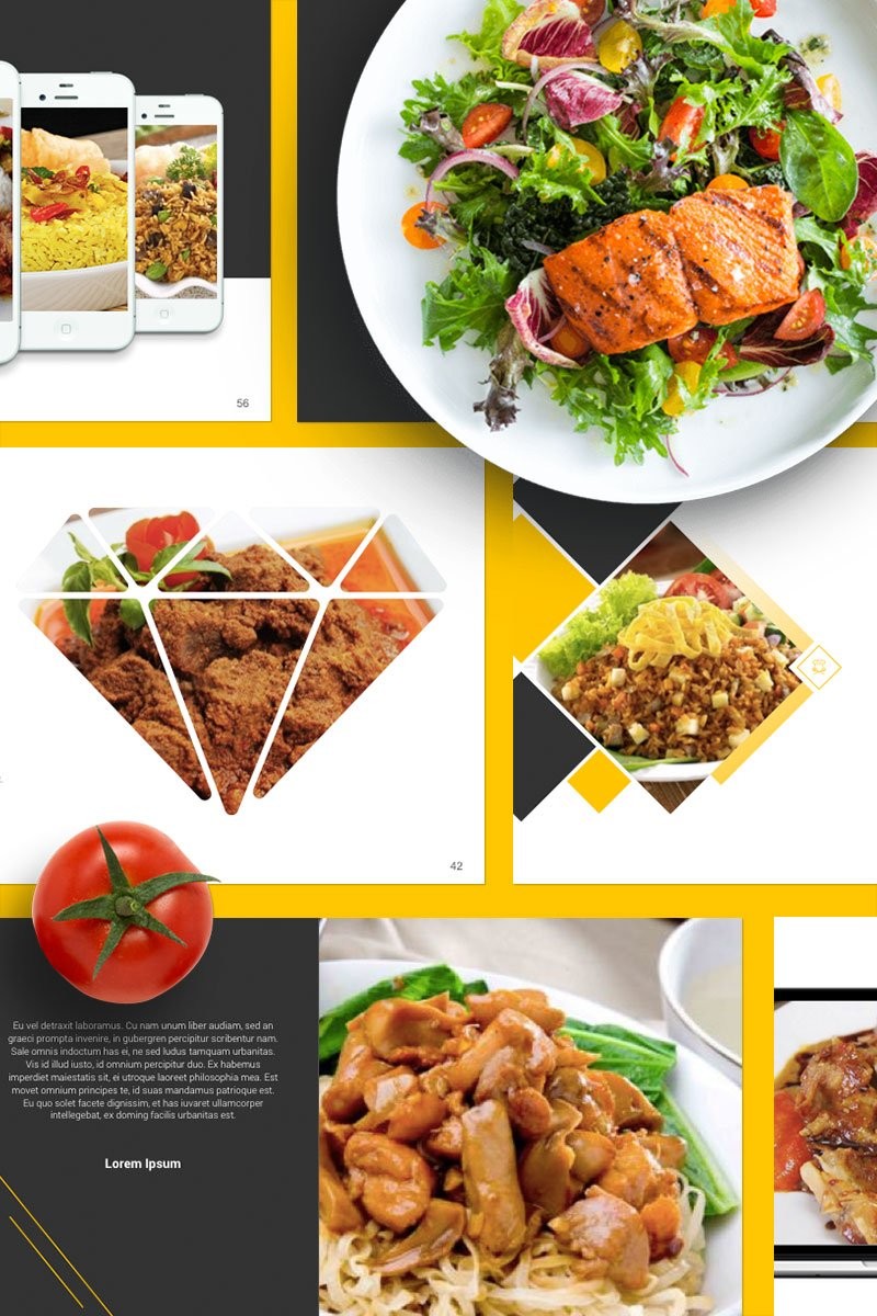 food presentation powerpoint template 67553