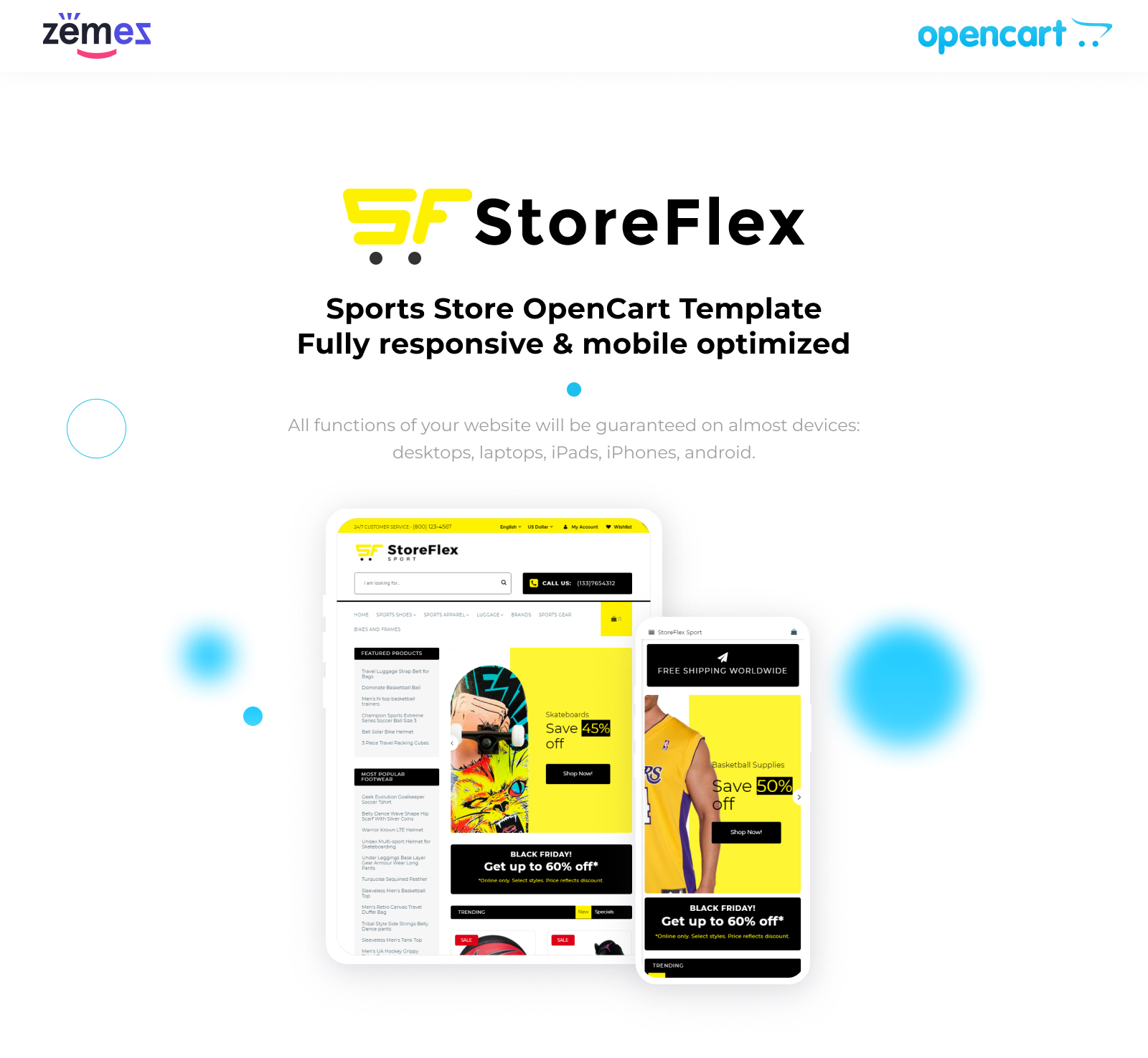 StoreFlex - Sports Store Responsive OpenCart Template