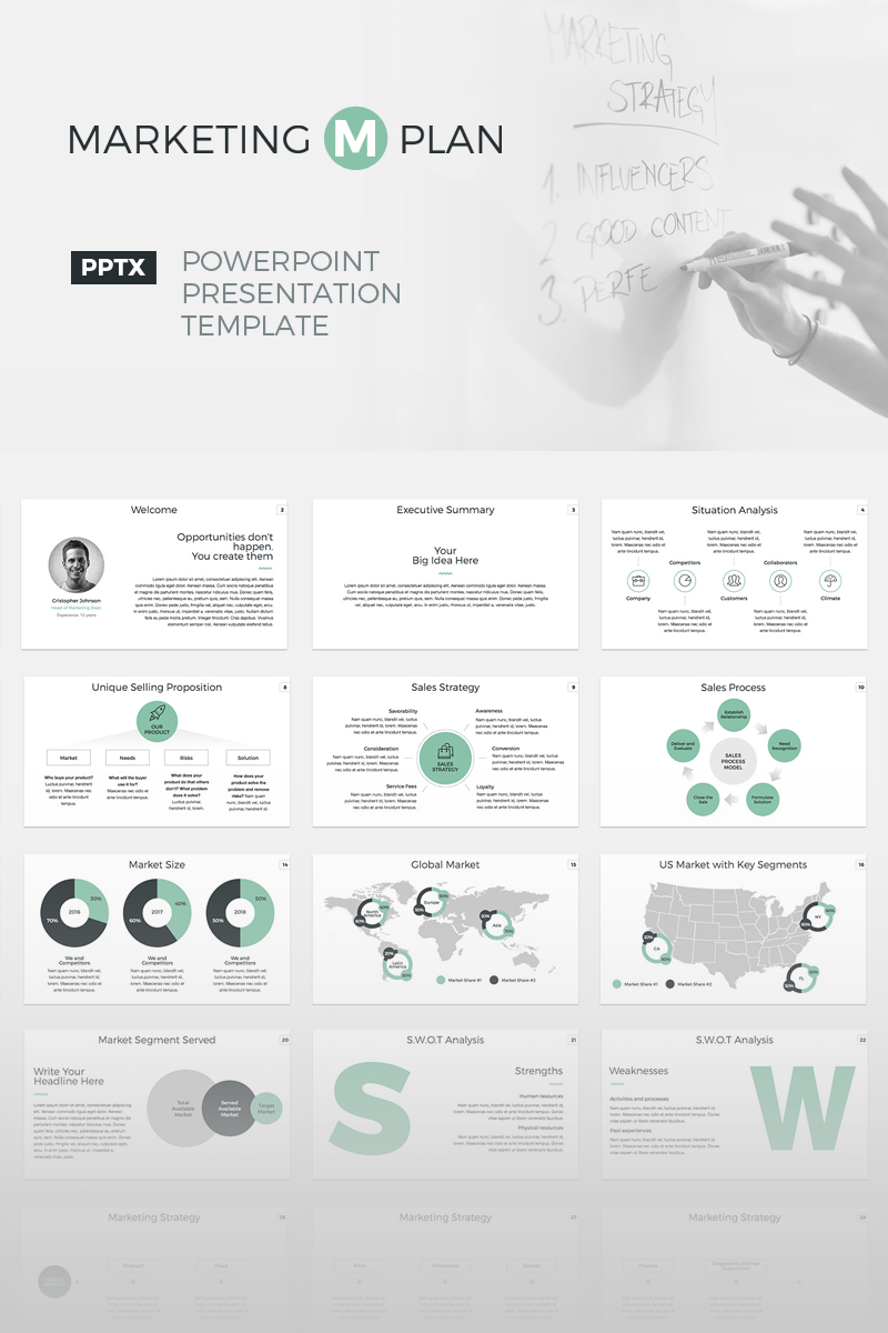 business powerpoint template #64688, Presentation templates