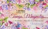 Jango Magnolia JPG Watercolor Set Illustration