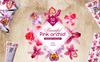 Pink Orchid PNG Watercolor Flower Set Illustration Big Screenshot