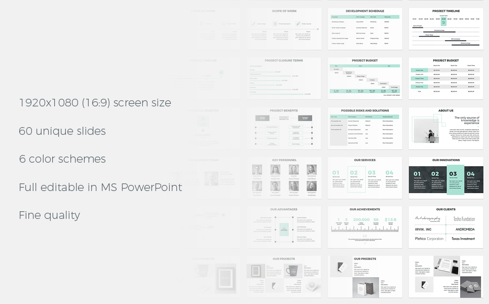 Business Powerpoint Template 64681