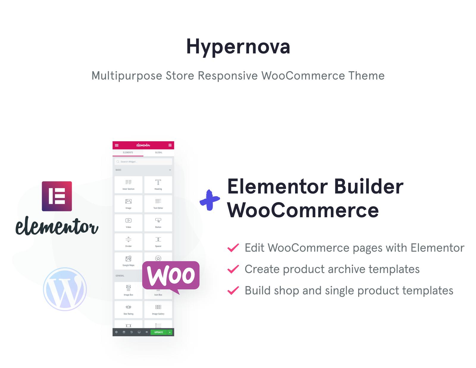 Hypernova - Store Multipurpose Minimal Elementor WooCommerce Theme