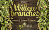 Willow Branches - JPG Watercolor Illustration