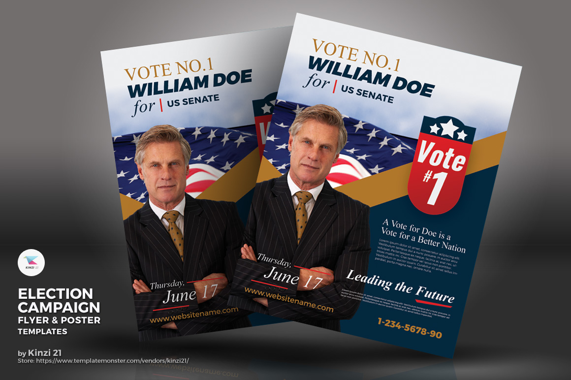 Election Campaign Flyer And Poster Psd Template 67468