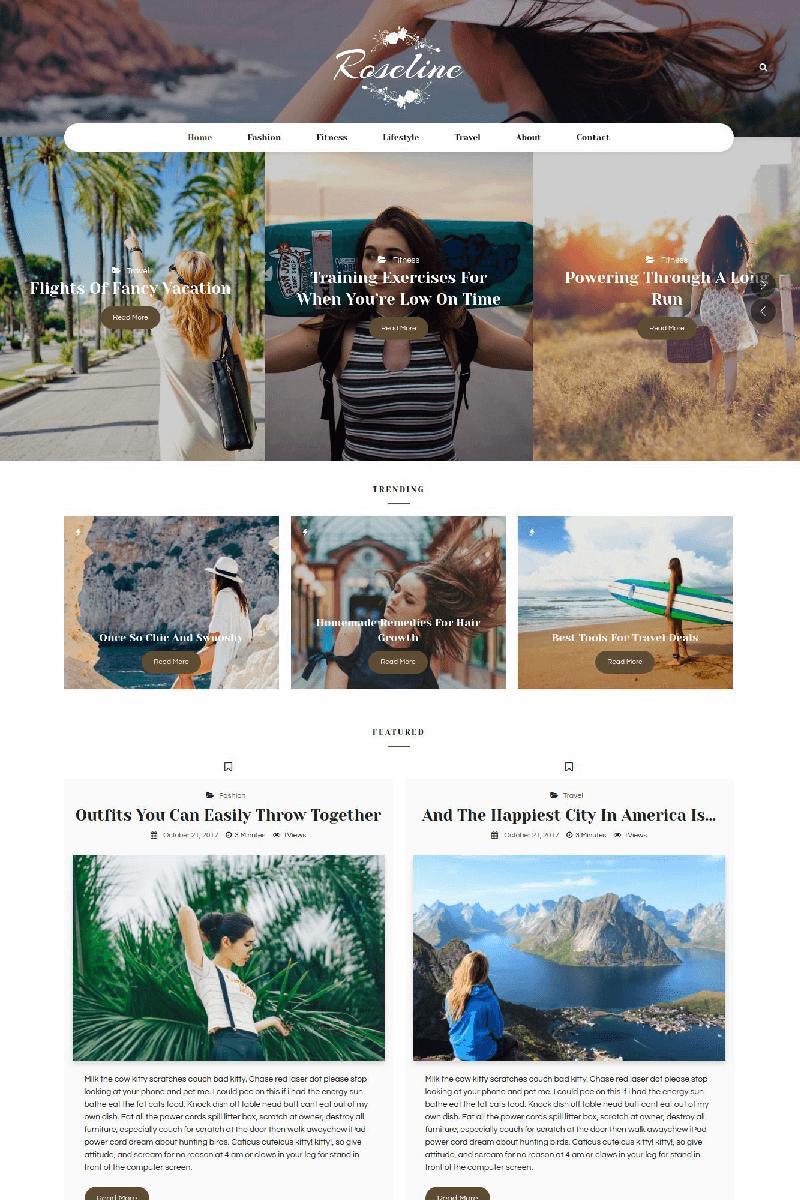 Адаптивный шаблон №67577 на тему мода и красота, блог о моде