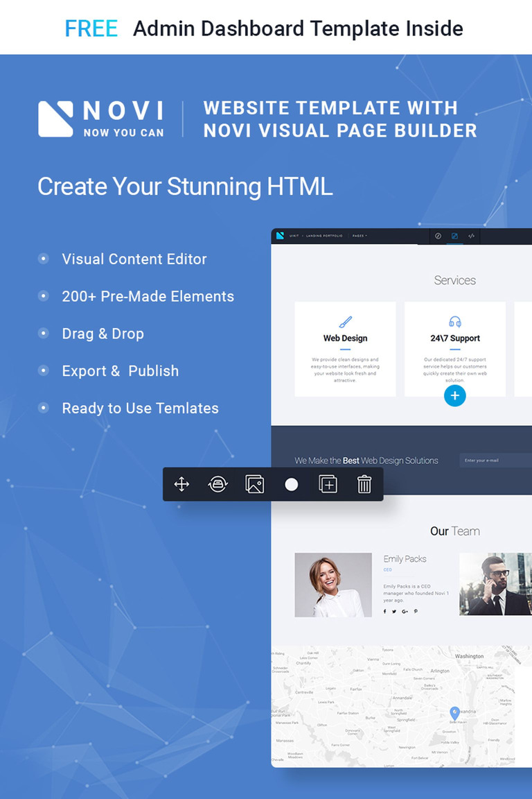 Novi Corporate Business Multipurpose With HTML Builder Website - Website template builder