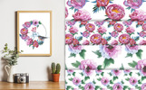 Colorful Peonies JPG Watercolor Flower Illustration