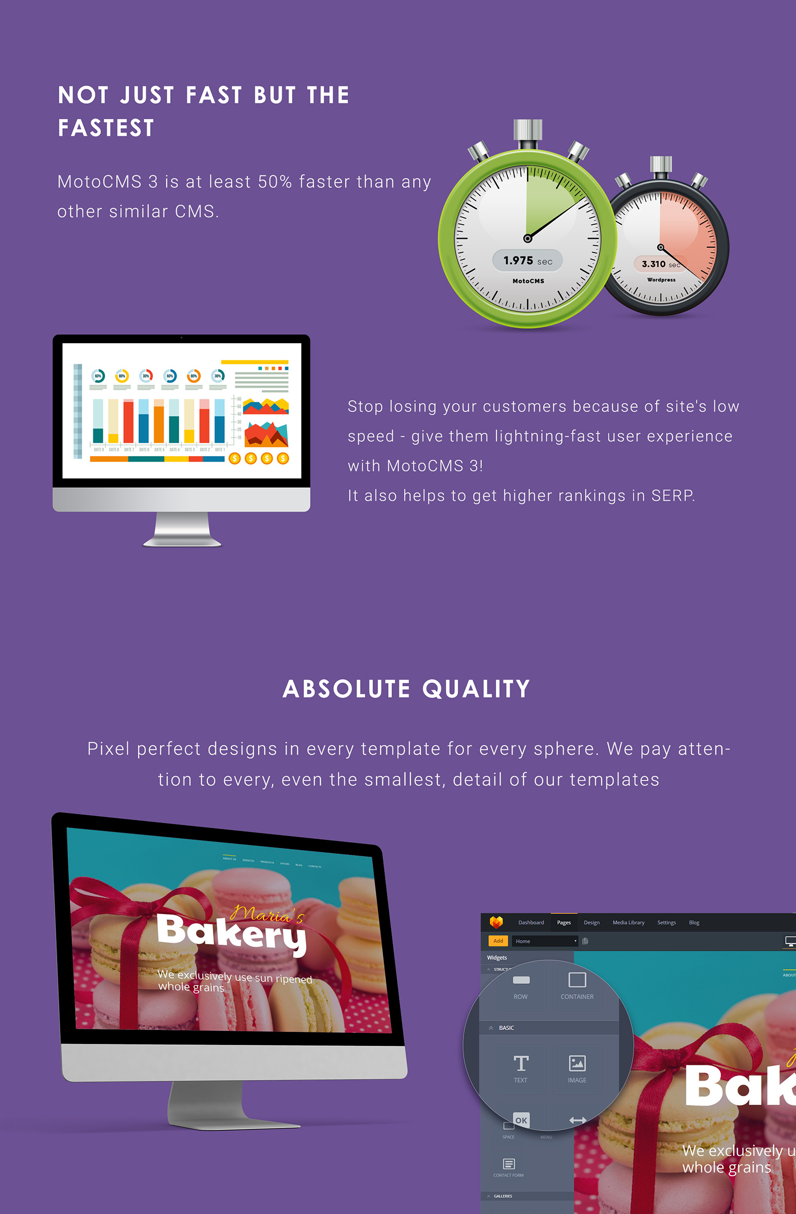 Cakes and Bakery Moto CMS 3 Template