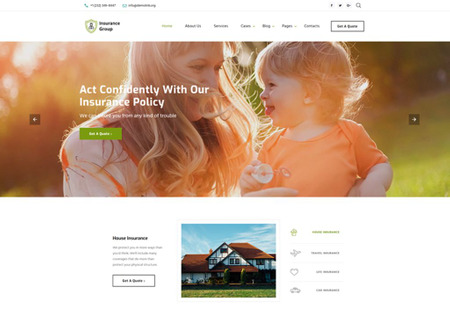 Insurance Conpany Multipage HTML