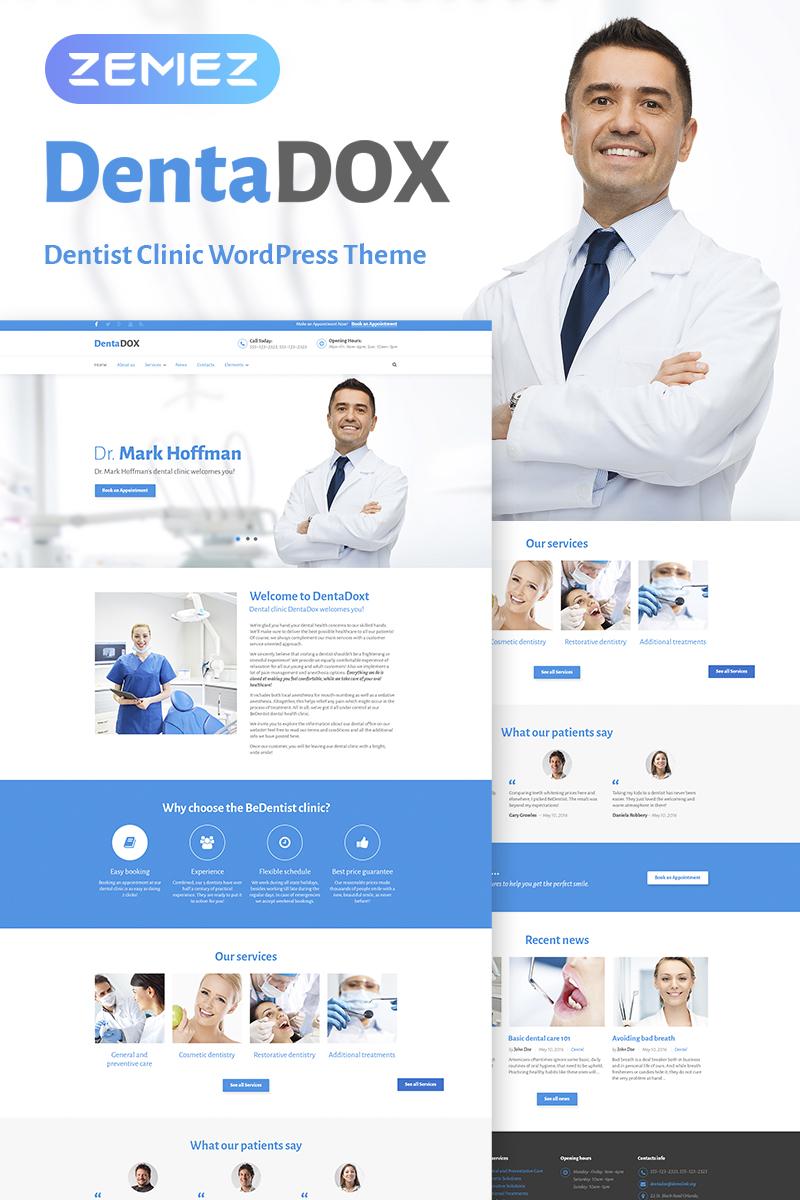 Адаптивный шаблон №67397 на тему медицина, стоматология
