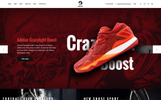 PSD-mall för  skobutik