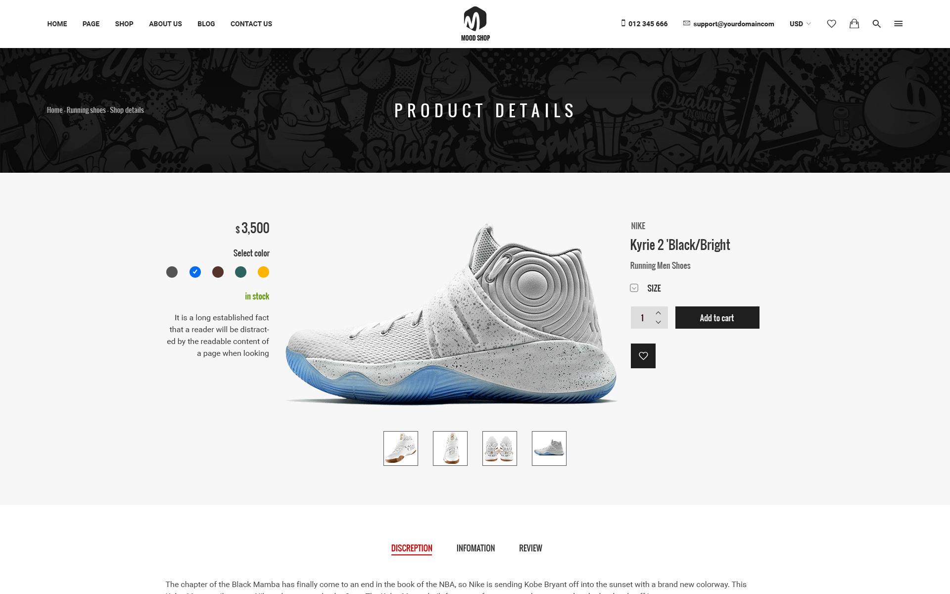 Moodshop - Modern eCommerce Footwear Online Store PSD Template Big Screenshot