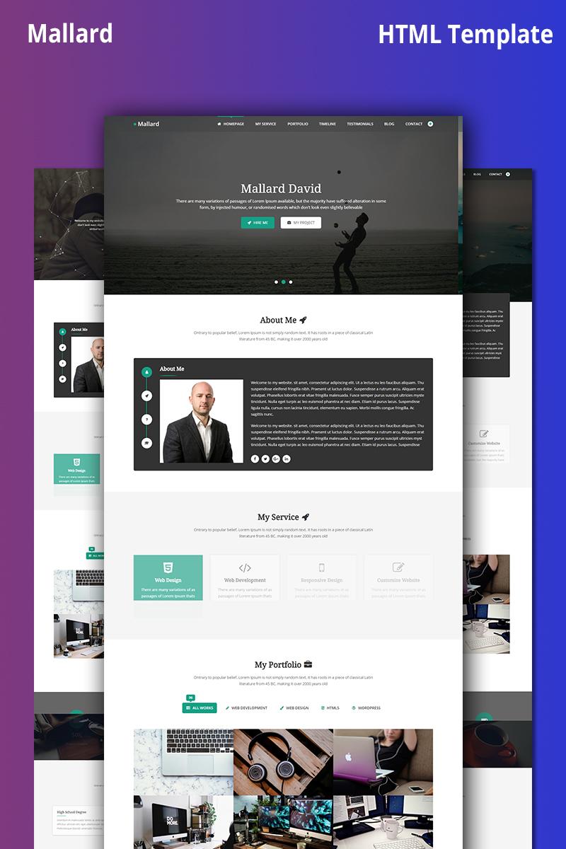 Mallard Creative Personal Portfolio Website Template 69022