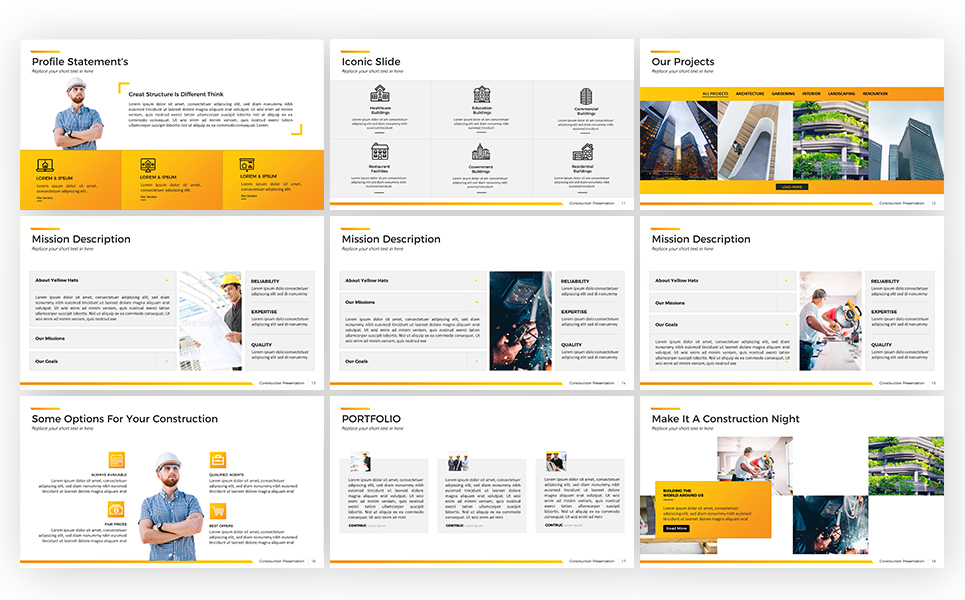 construction powerpoint template 67591