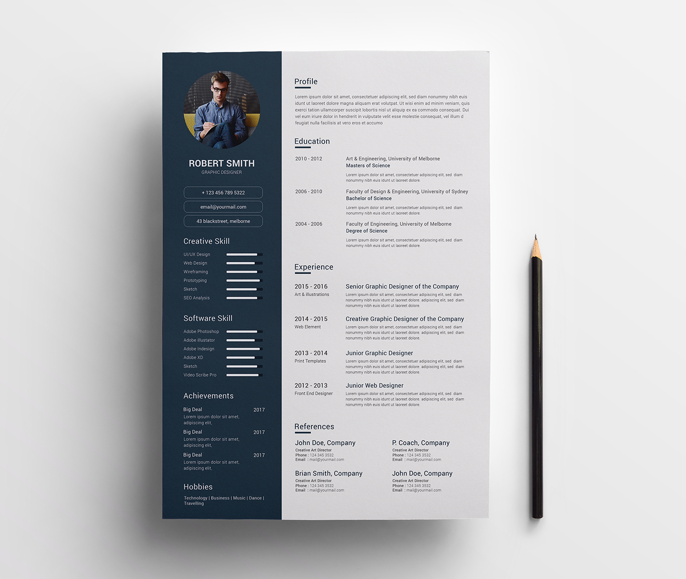 Robert Smith - Graphic Designer Resume Template #67689