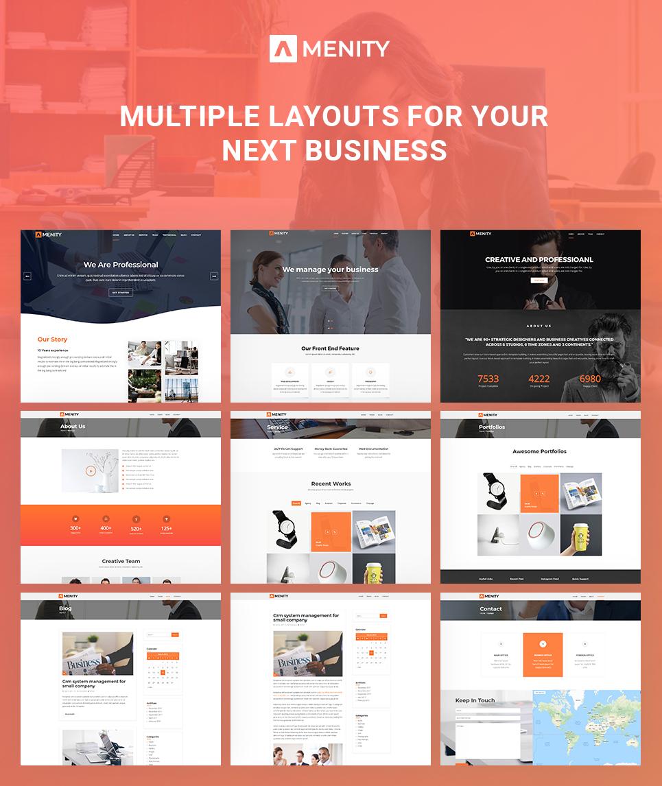 Amenity Business One Page WordPress Theme Screenshot Zoom In Live Demo