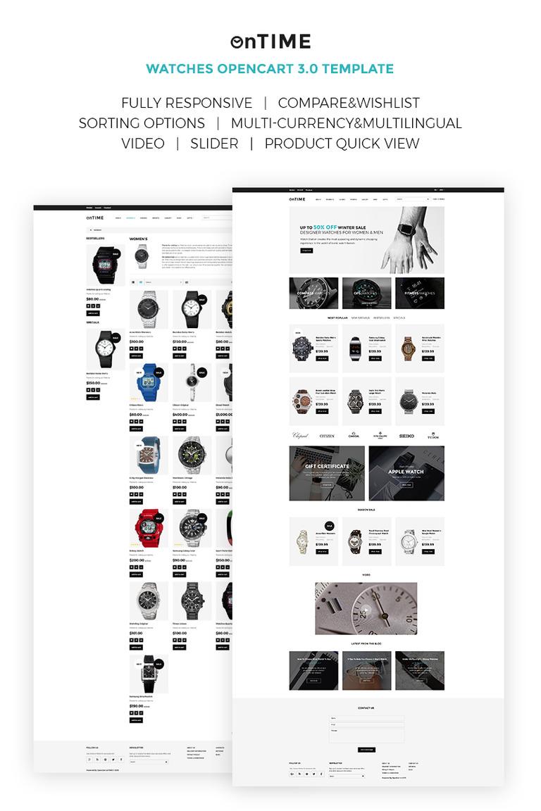 OpenCart Vorlage #67436 für Uhren