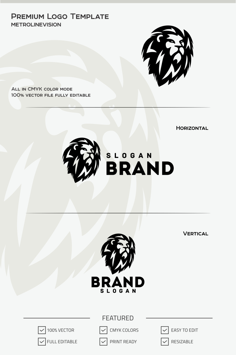 lion logo template 68060
