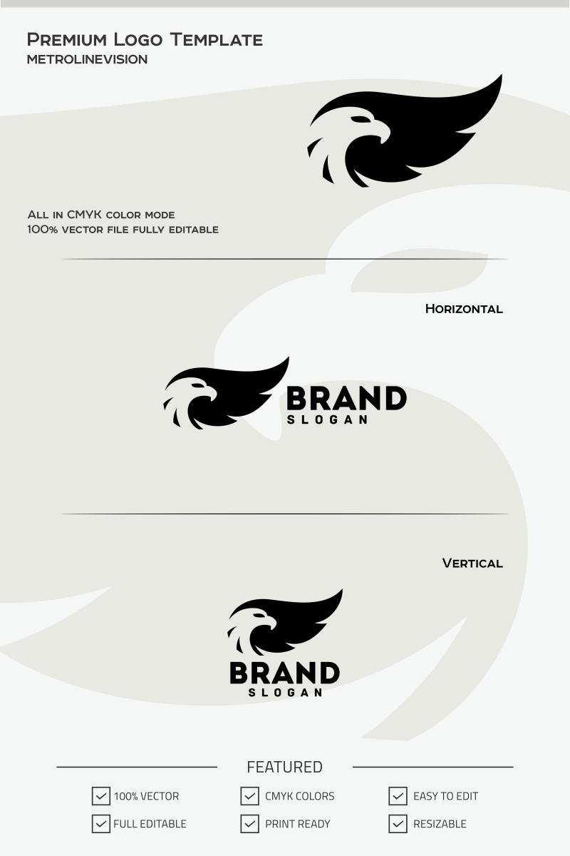 Eagle Logo Template #68066