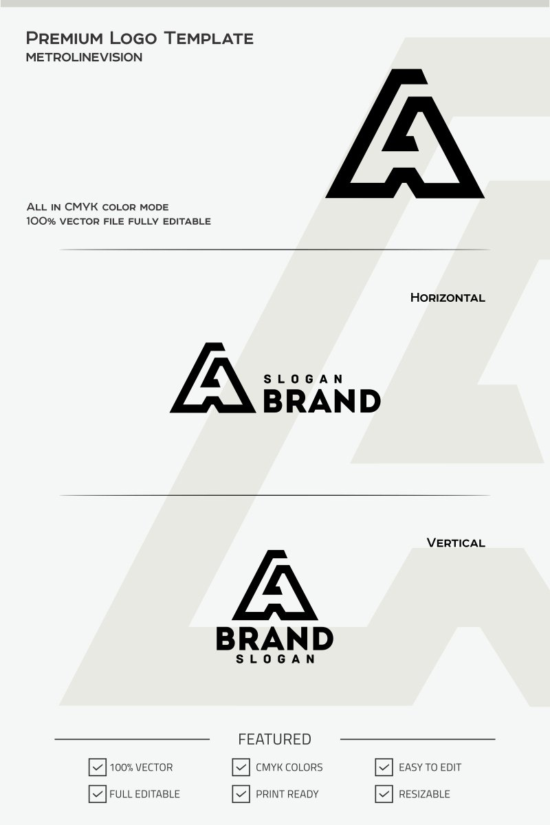Letter a logo template 68105 letter a logo template spiritdancerdesigns Images