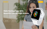"Modello di Landing Page Responsive #67634 ""Alobaba - Product"""