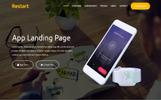 Restart- Responsive App Landing Page Template