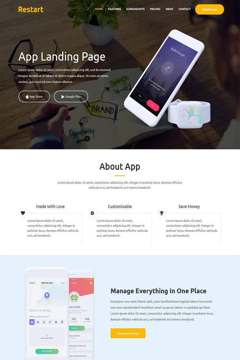 Landing Page Template #67815 für Business und Dienstleistungen