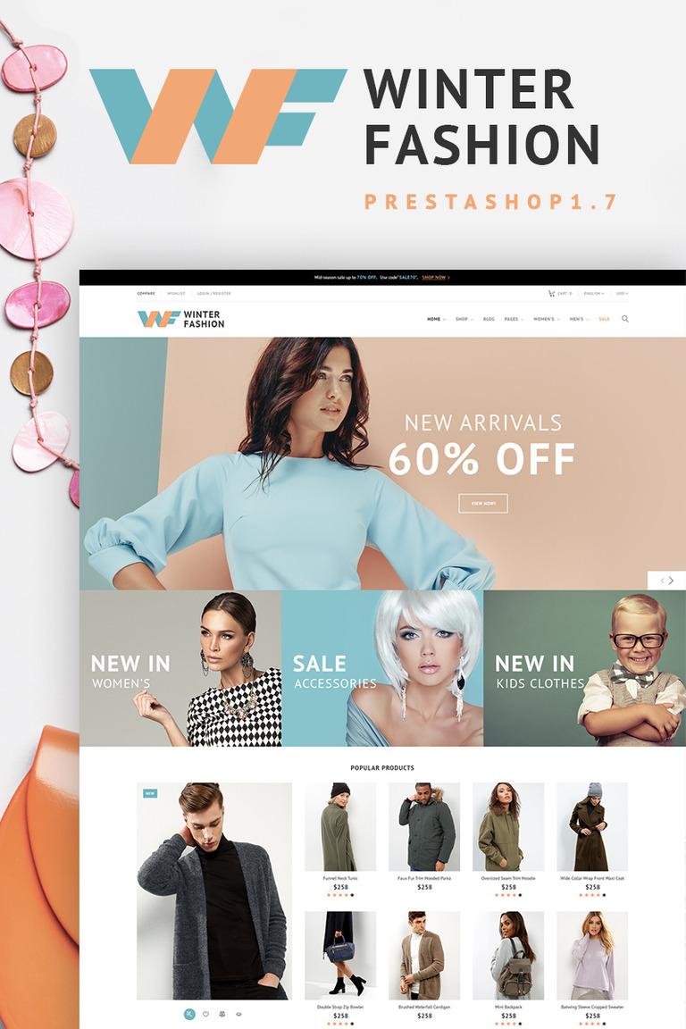 c2bf4b05805 Winter Fashion - Fashionable Winter Wear PrestaShop Theme Big Screenshot