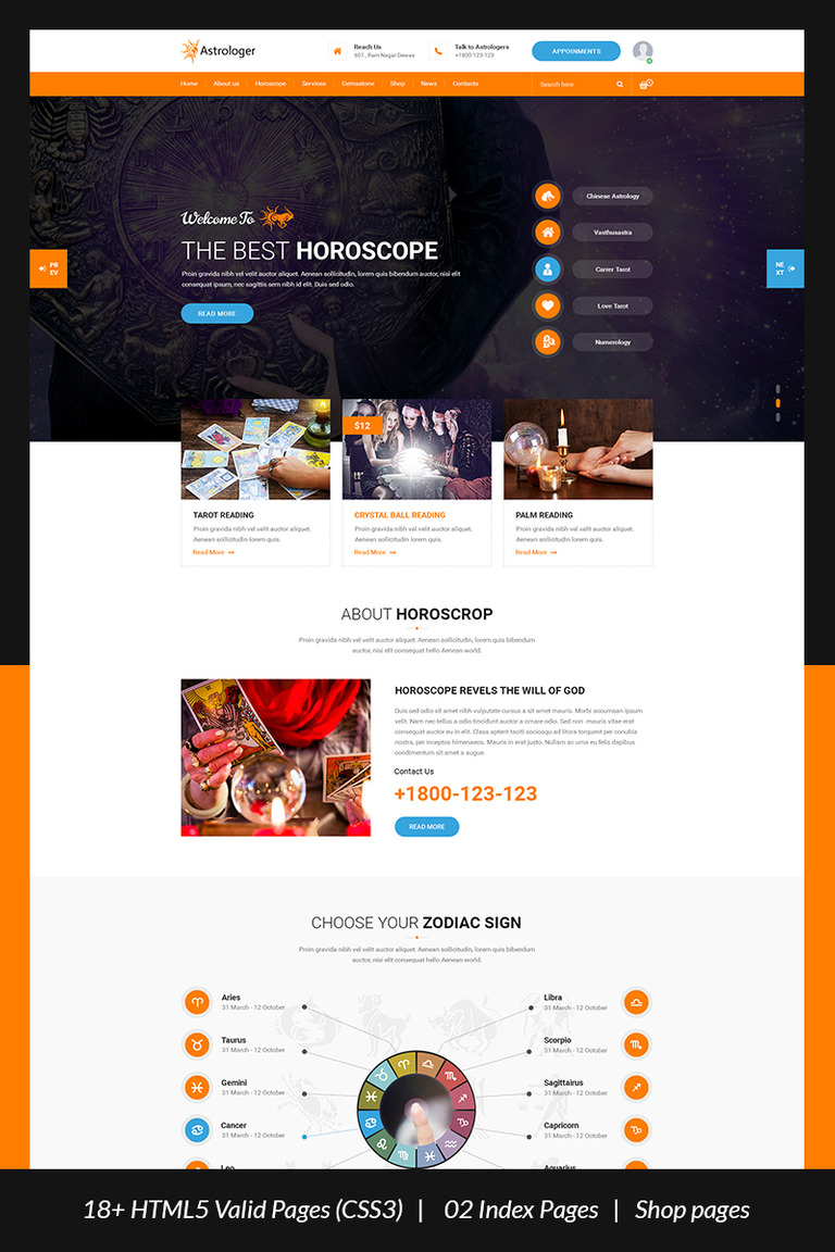Astrologer astrology and numerology html website template 67635 astrologer astrology and numerology html website template big screenshot ccuart Images