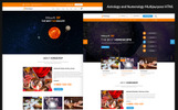 "Website Vorlage namens ""Astrologer - Astrology and Numerology HTML"""