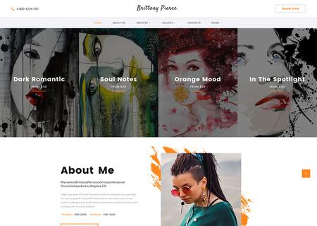 Artist Portfolio Multipage HTML5