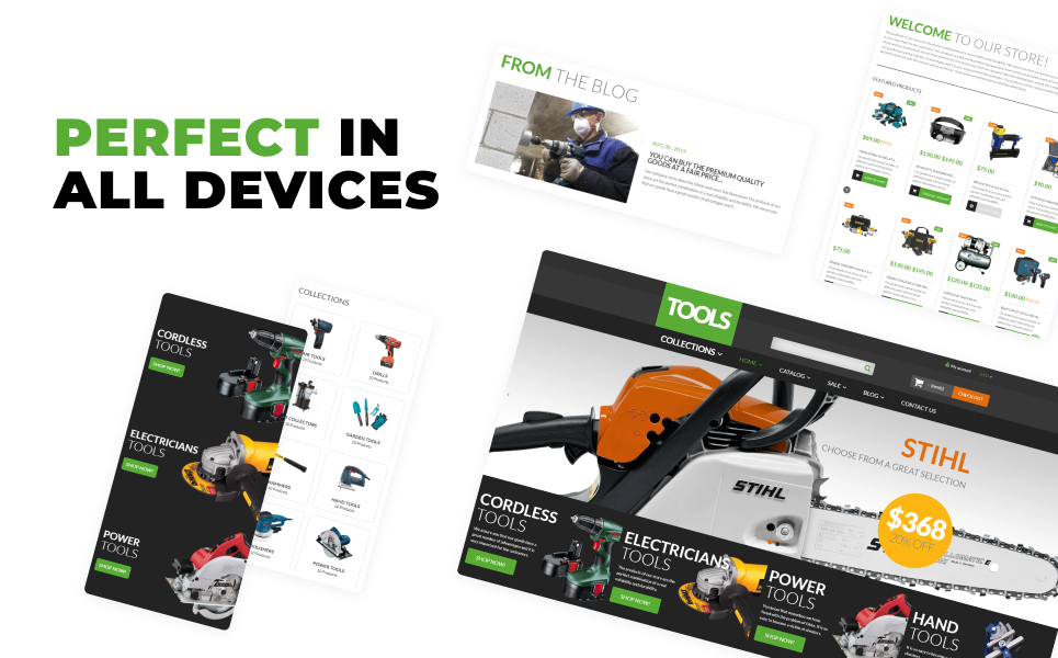Tools  Equipment Shopify Theme