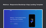 "Landing Page Template namens ""Mobirus - Responsive Bootstrap 4 App"""