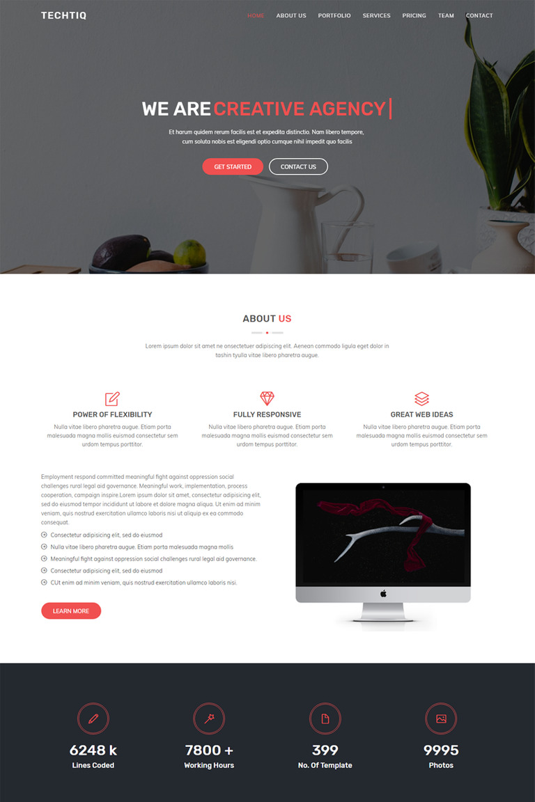 Techtiq - Responsive Multipurpose Website Template #67611