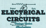 40 Vintage Electrical Circuits Vector Illustration