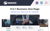 Waves - 9 in 1 Business One Page Template Web №67557