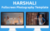 Harshali - FullScreen Photography Website Template Big Screenshot