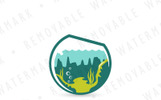 Aquascaping Bowl - Logo Template