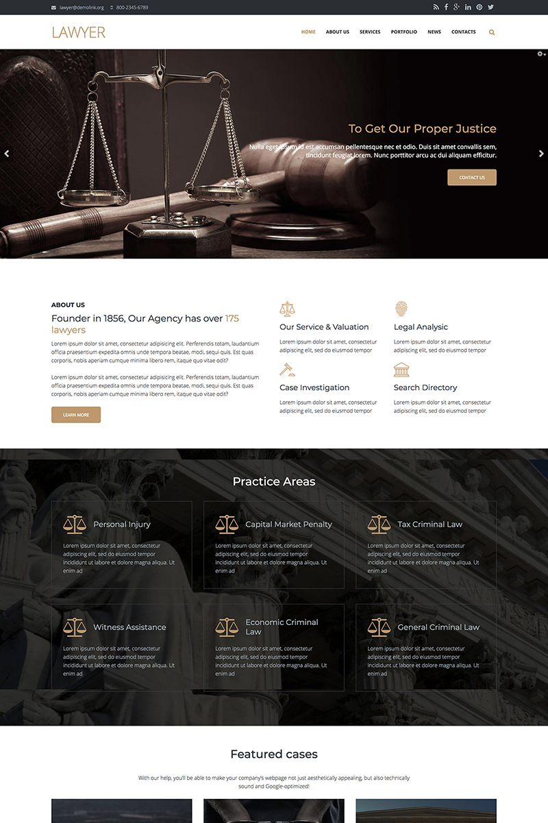 Lawyer Firm - Premium Drupal Template