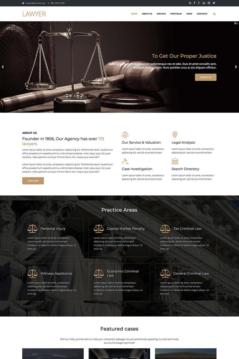 Drupal Vorlage #67569 für Rechtsanwalt