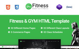 Template Web Flexível para Sites de Fitness №67810