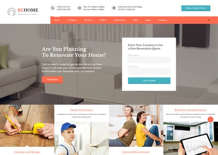 Renovation Multipage HTML