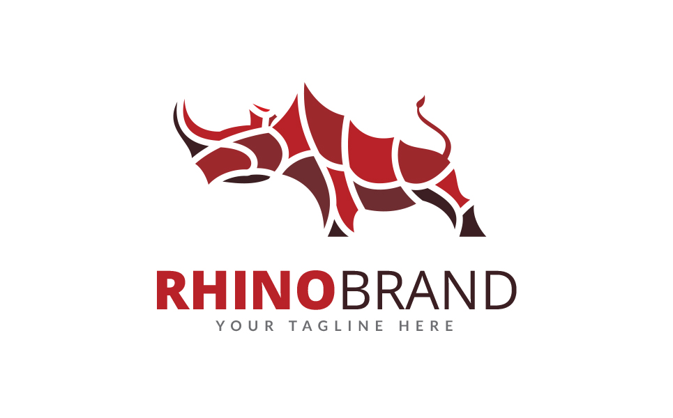 rhino brand logo template 67886