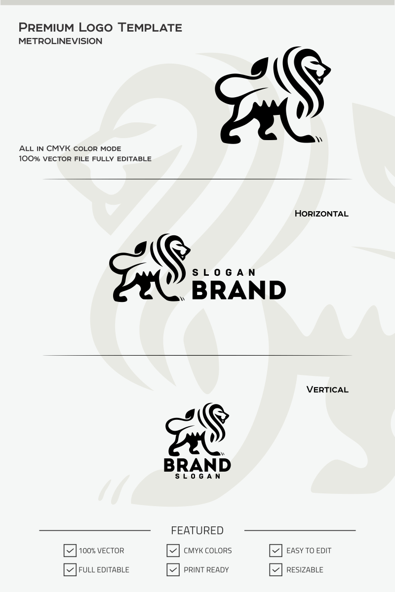 lion logo template 69743